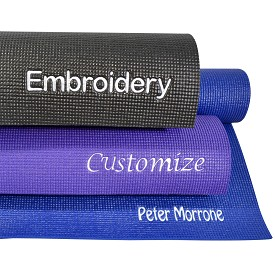 YOGA Accessories 1/4'' Extra Thick Deluxe Yoga Mat - Custom Embroidered