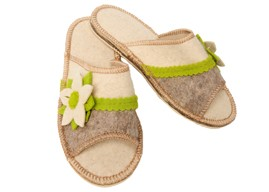 Wild Flower Ladies Eco Felt Slippers - Discontinued