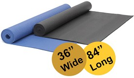 YOGA Accessories 1/4'' Extra Thick Deluxe Yoga Mat - Extra Wide, Extra Long