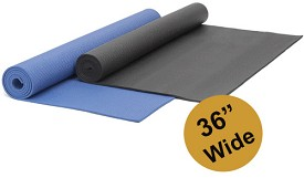 YOGA Accessories 1/4'' Extra Thick Deluxe Yoga Mat - Extra Wide