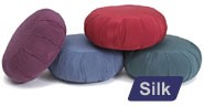 Round Silk Zafu Meditation Cushion