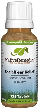 SocialFear Relief to Temporarily Relieve Social Fear and Anxiety (125 Tablets)