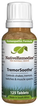 TremorSoothe to Temporarily Control Shakes, Tremors, Twitches (125 Tablets)