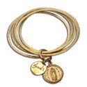 Virgin of Guadalupe Bangles Bracelet Recycled Brass