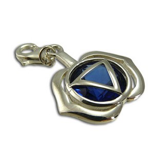 Good Vibes Forehead Chakra Stone Charm with Sapphire Cubic Zirconia