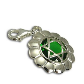 Good Vibes Heart Chakra Stone Charm with Emerald Cubic Zirconia