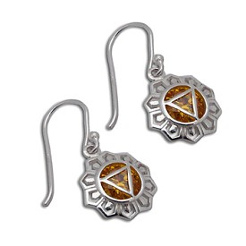 Good Vibes Solar Plexus Chakra Earrings Sterling Silver or 18k Gold Vermeil