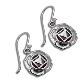 Good Vibes Root Chakra Earrings Sterling Silver or 18k Gold Vermeil