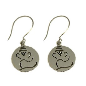 Ganesh, Hindu Deity, Sterling Silver Earrings