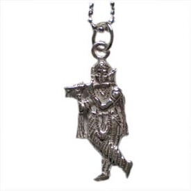 Krishna, Hindu Deity, Sterling Silver 16'' Necklace