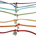 Chakra Pendants in Sterling Silver with Ultra Suede Leather Necklaces - Set of 7
