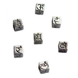 Sterling Silver Chakra Bead or Charm Set for Necklace or Bracelet