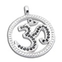 Om Bling Pendant Large Black