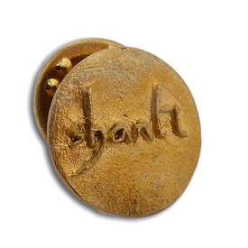 Shanti ''Peace'' Scatter Pin Recycled Brass