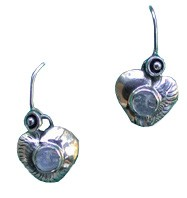 Carved Moonstone Earrings