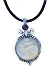 Pendant with Tagua OM and Amethyst (Large Size)