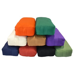 Supportive Rectangular Cotton Yoga Bolster