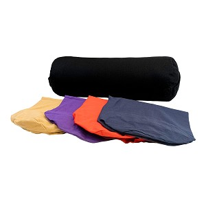 Washable Cover for Round Cotton Yoga Bolster