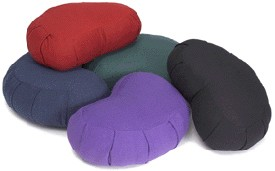 Crescent Cotton Zafu Meditation Cushion