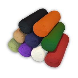 Supportive Round Cotton Yoga Bolster