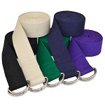 10' D-Ring Buckle Cotton Yoga Strap