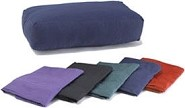 Washable Cover for Rectangular Cotton Yoga Bolster